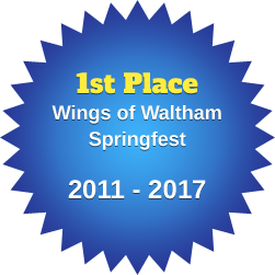 1st Place Wings of Waltham Springfest 2011-2017