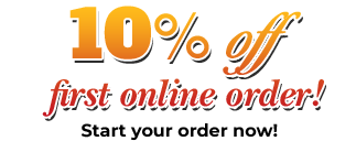 10% off First Online Order! Start your order now